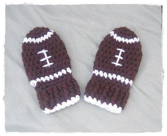Football mittens Crochet Baby Socks & Mittens Pinterest