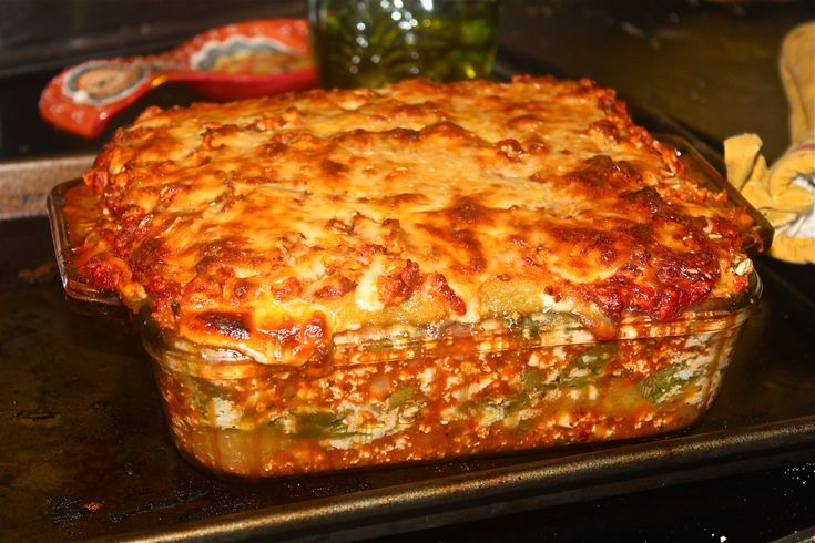 ... Lasagna is low carb and vegetarian! Can easily be made with turkey