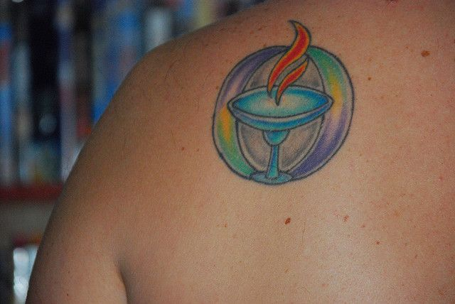 Chalice Tattoo ... Uu Flaming Chalice