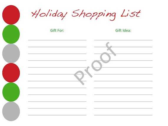 christmas shopping list template new calendar template site. Black Bedroom Furniture Sets. Home Design Ideas