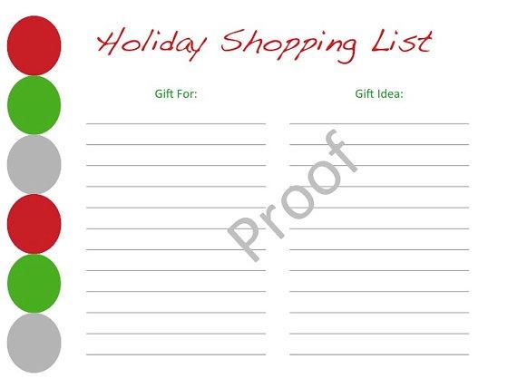 christmas shopping list template new calendar template site. Black Bedroom Furniture Sets. Home Design Ideas