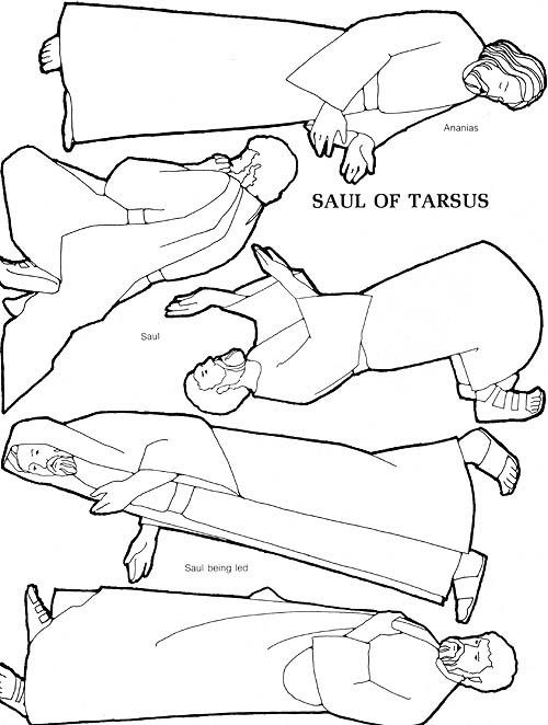 saul conversion story coloring pages - photo#6