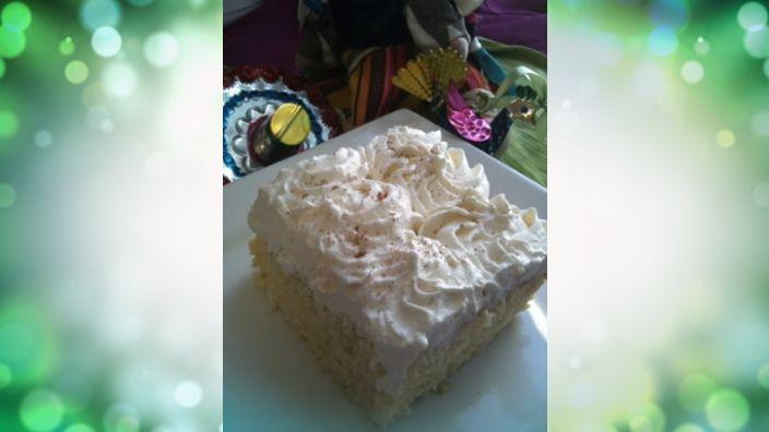 Studio 5 - White Chocolate Egg Nog Tres Leches Cake with Vanilla Rum ...