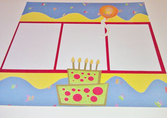 Birthday Boy 12x12 Premade Scrapbook Pages by StrictlyCute on Etsy, $ ...