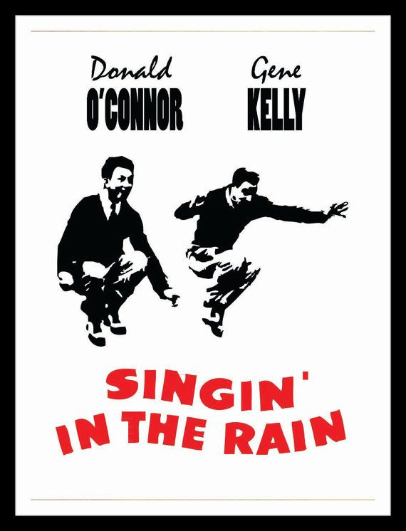 Authentic singing in the rain movie poster