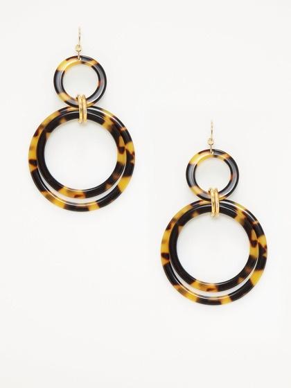 Tortoise shell earrings treat yo 39 self pinterest for Real tortoise shell jewelry