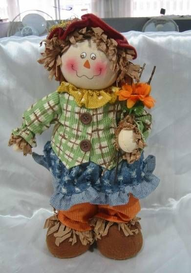 fabric scarecrow--autumn decoration