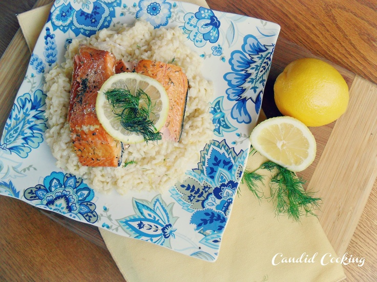 Baked Salmon with Lemon Risotto | Candid Cooking {www.srshowalter.blo ...