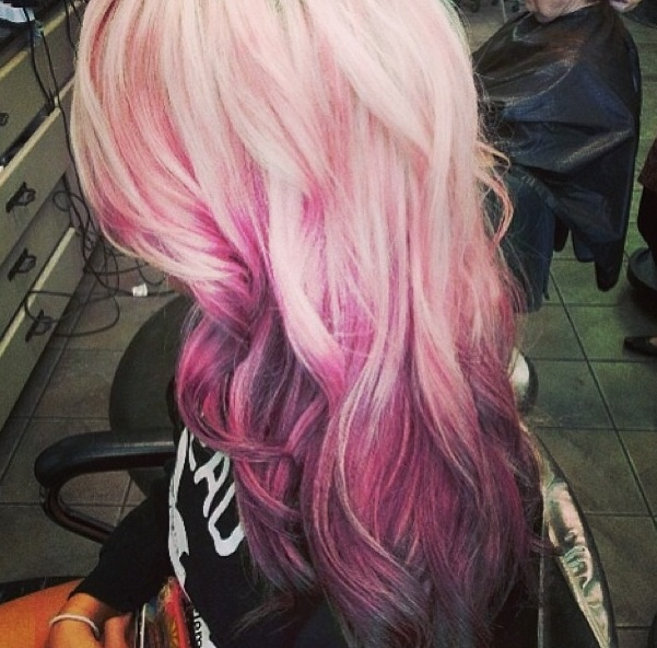 blonde pink purple hair colorful ideas pinterest