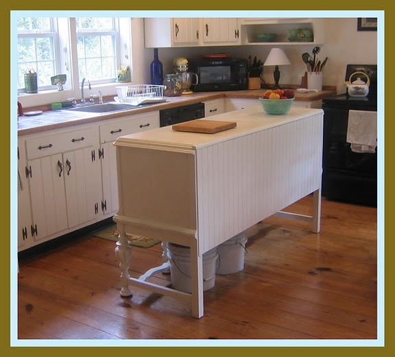buffet into kitchen island home ideas decor