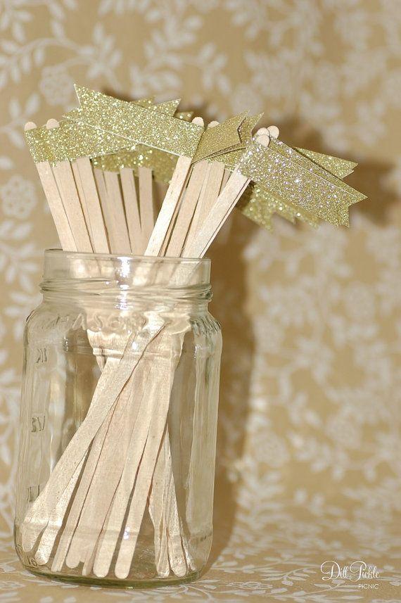 Gold Glitter Drink Stirrers $7.00
