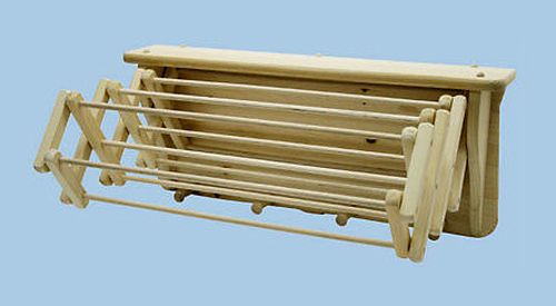 Wooden Wall Mount Hanging Clothes Drying Rack Flowers Amp Herbs