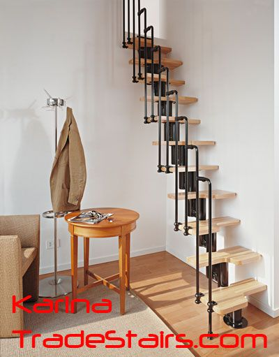 Stairs to loft small spaces pinterest - Stairs small spaces gallery ...