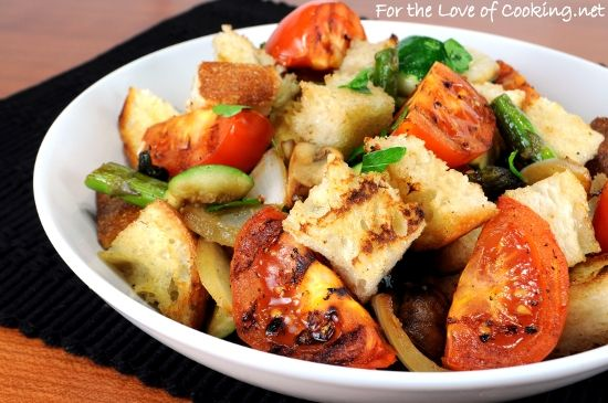 Grilled Vegetable Panzanella | Food & Recipes | Pinterest