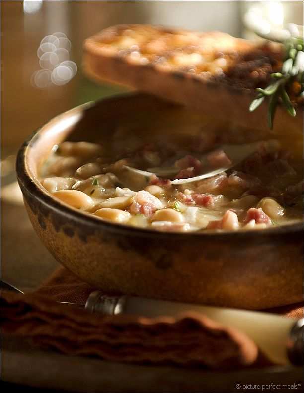 Tuscan White Bean Soup with Pancetta and Rosemary from ...