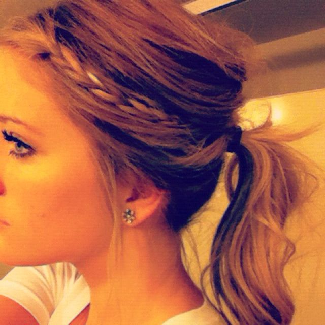 Messy Braid and Ponytail.