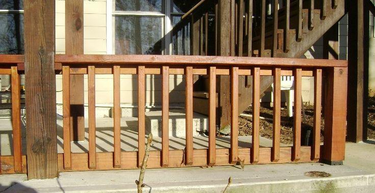 build a deck railing project forever house pinterest