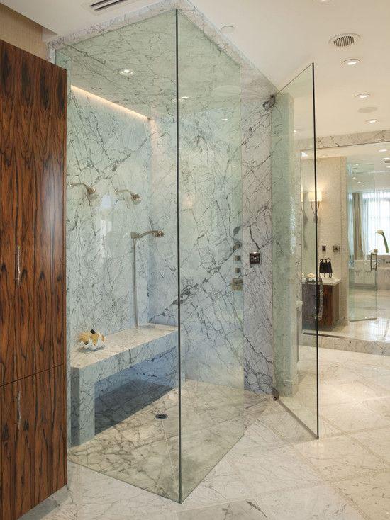 Curbless Shower Design Steam Shower Bathe Powder