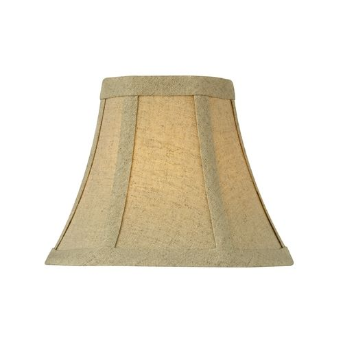 design classics lighting burlap bell lamp shade with clip on assembly. Black Bedroom Furniture Sets. Home Design Ideas