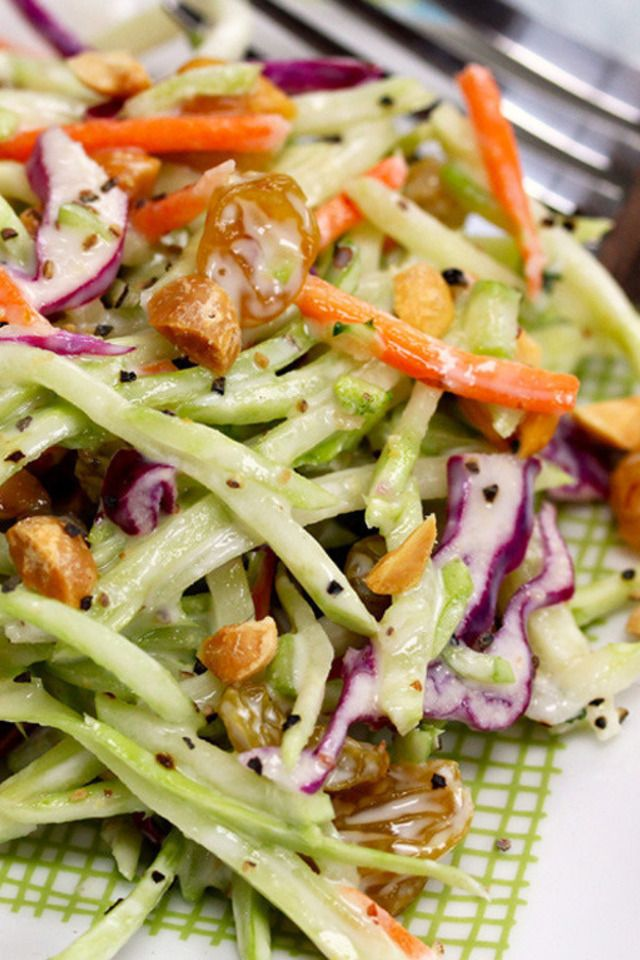 ... salad with yogurt dressing recipe for broccoli slaw salad with honey