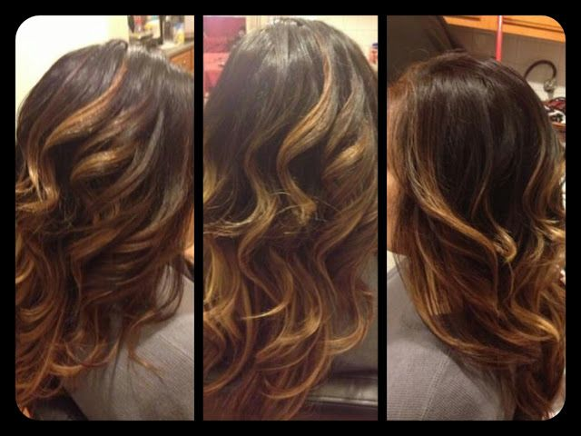 dark brown hair with auburn lowlights and copper highlights | Healthy ...