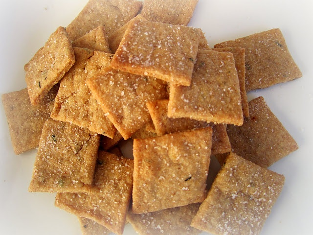 Homemade wheat thins. -- These came out great and we love them. Better ...