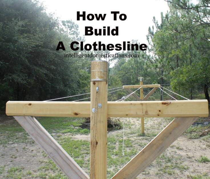 How To Build A Clothesline.Completed Clothesline newly installed ...
