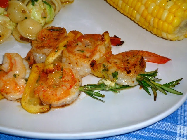 Shrimp and Lemon Rosemary Skewers   Baking & Cooking   Pinterest
