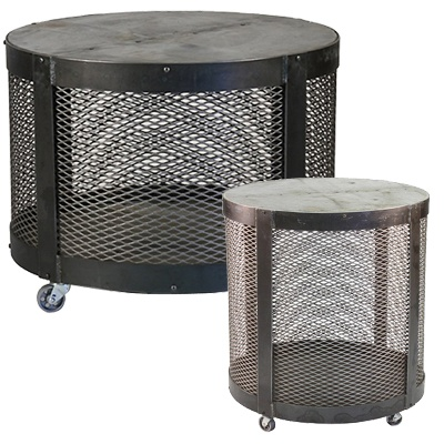 Metal Drum Coffee Table and Side Table | Furniture Sets ...
