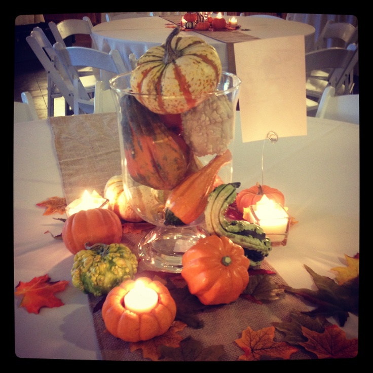 Simple Fall Table Decor We Have Plenty Of Votives Left Over From The