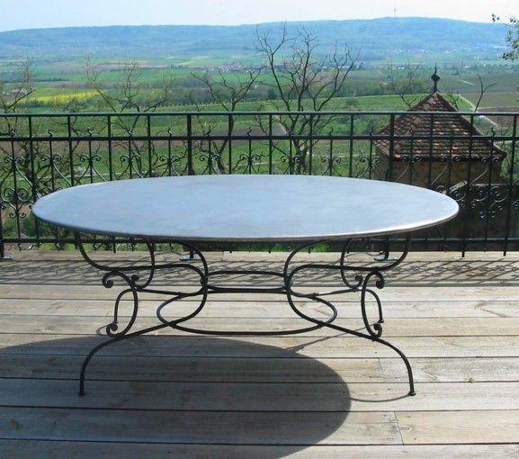 Replica  Gartentisch aus Schmiedeeisen  For the Home  Pinterest