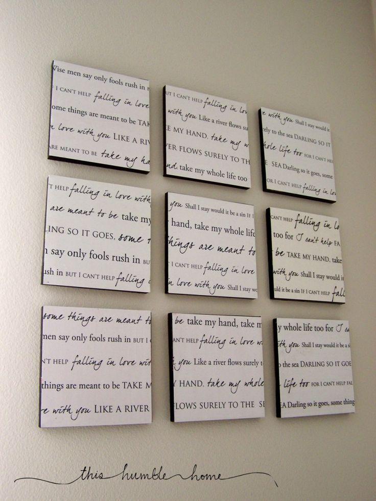 lyrics to your wedding song.