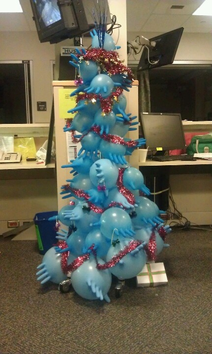 Christmas Tree Made From Gloves