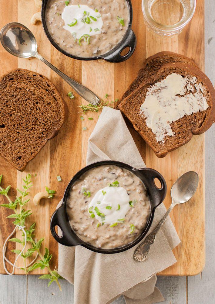 creamy wild rice amp mushroom soup via raquel kahler my california ...