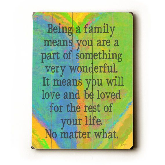 I love this family quote!