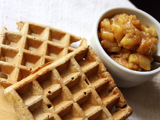 spiced apple compote. and if i had a waffle iron-- spiced waffles. but ...