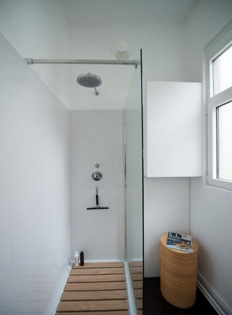 Tegels Badkamer Verven ~   ; Douche in kleine ruimte  Kleine douche  Small shower  Pinterest