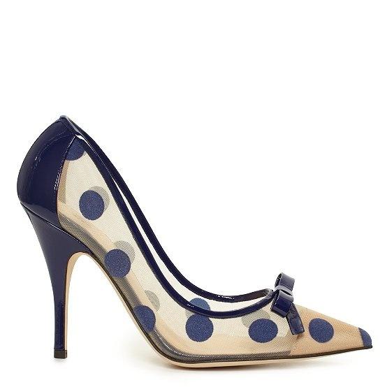 ladylike polka dot pumps