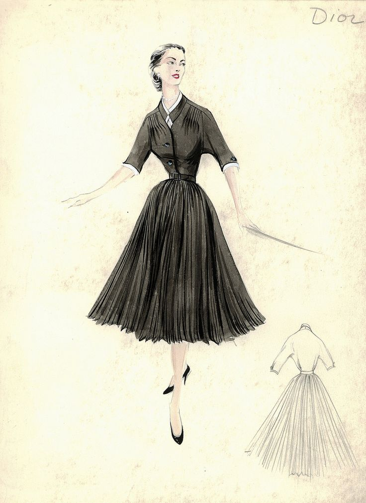 christian dior sketch 1950s costumes pinterest