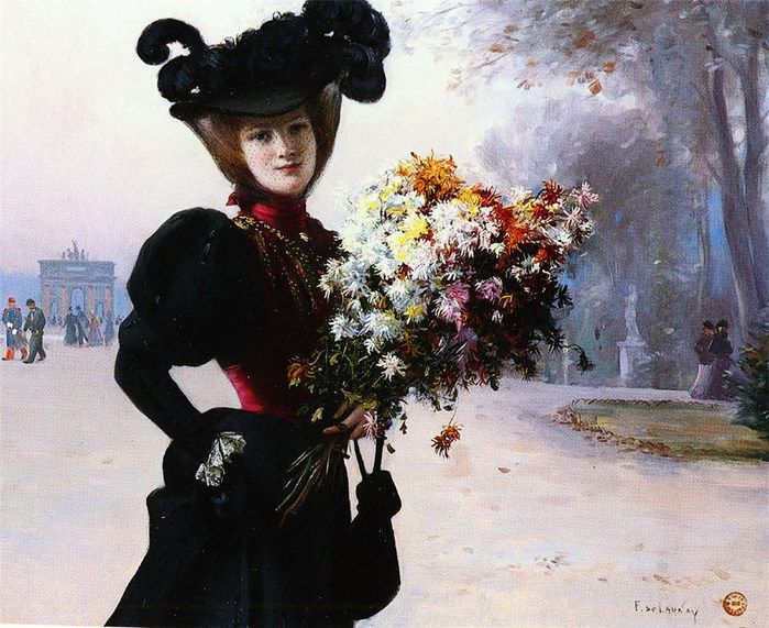 Lady In Black~ | Romantic Art Work~ | Pinterest: pinterest.com/pin/73253931409305405