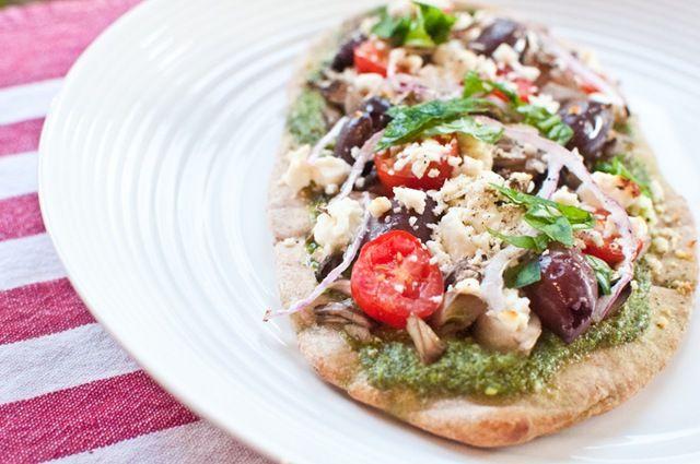 Greek Pita Pizzas | Food stuffs | Pinterest