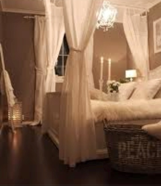Romantic Canopy Bed Dream Home Pinterest