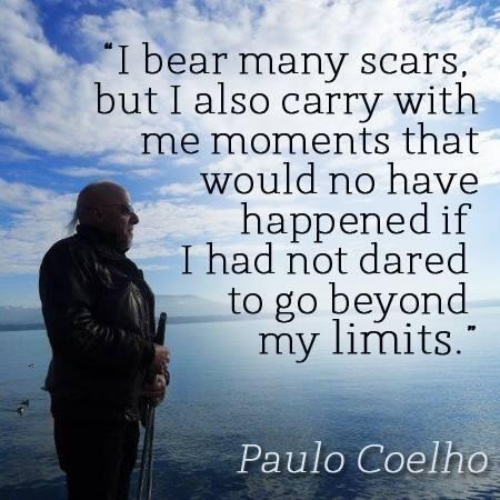 Twitter / paulocoelho: I bear many scars, but... > ...