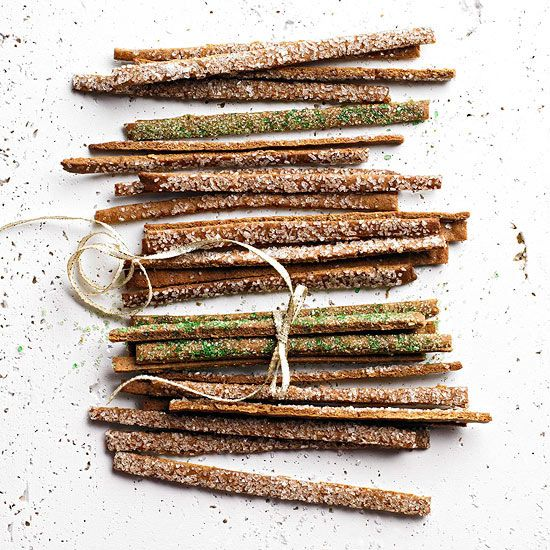 How cute are these Spicy Gingerbread Twigs? More #recipes from our December issue: http://www.bhg.com/recipes/from-better-homes-and-gardens/december-2012-recipes/