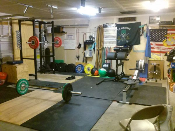 Crossfit garage gym layout