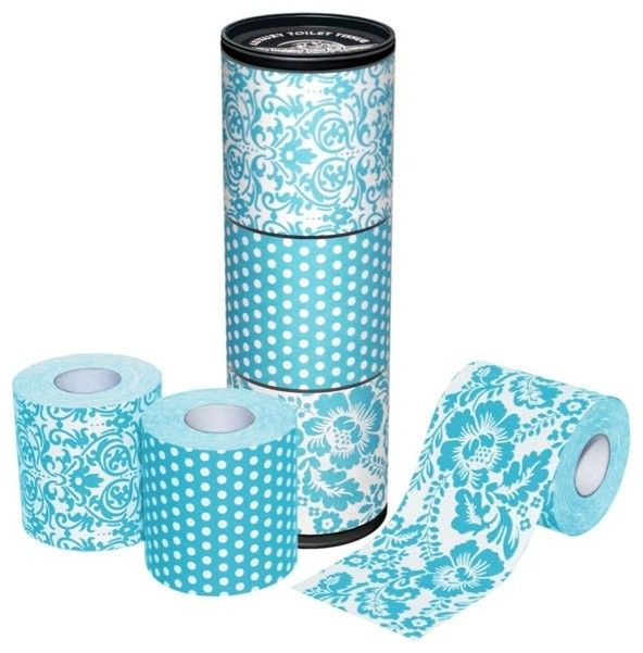 aqua blue patterned toilet roll eclectic bath and spa accessories