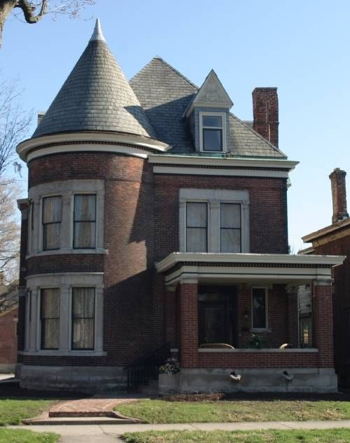 Brick Queen Anne House In Indiana Victorian Homes