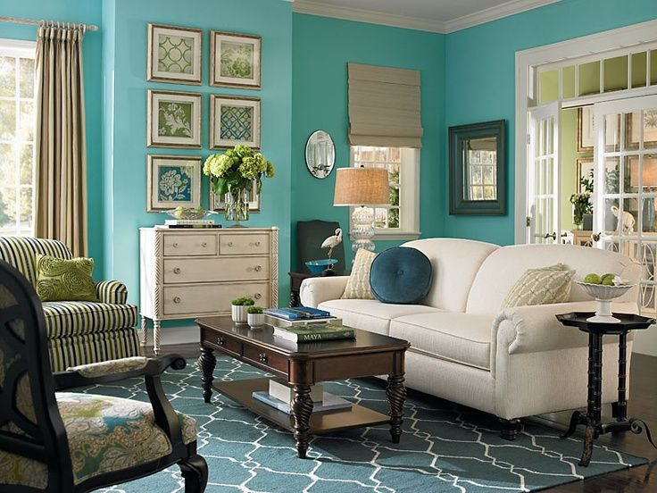 Taupe and teal living room love the teal paint the for Teal living room ideas