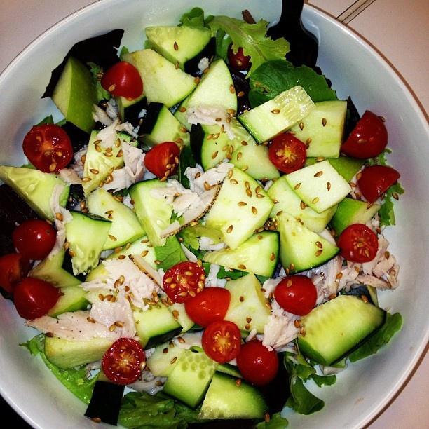 Green Apple & Turkey Salad | Healthy | Pinterest