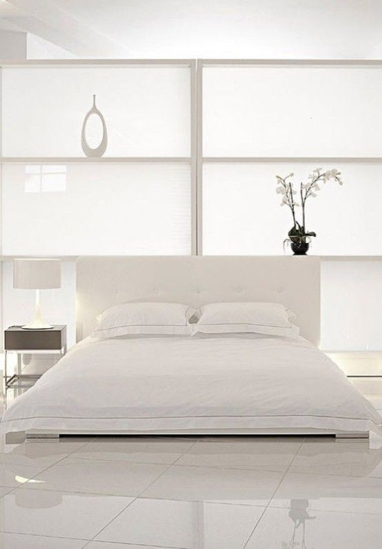 White Minimalist Zen Bedroom Simple Home Decor